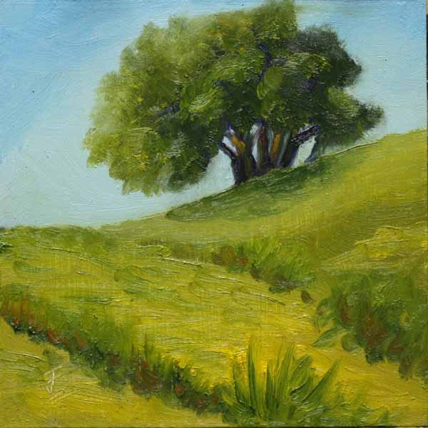 """Lush Land"" original fine art by Jane Frederick"
