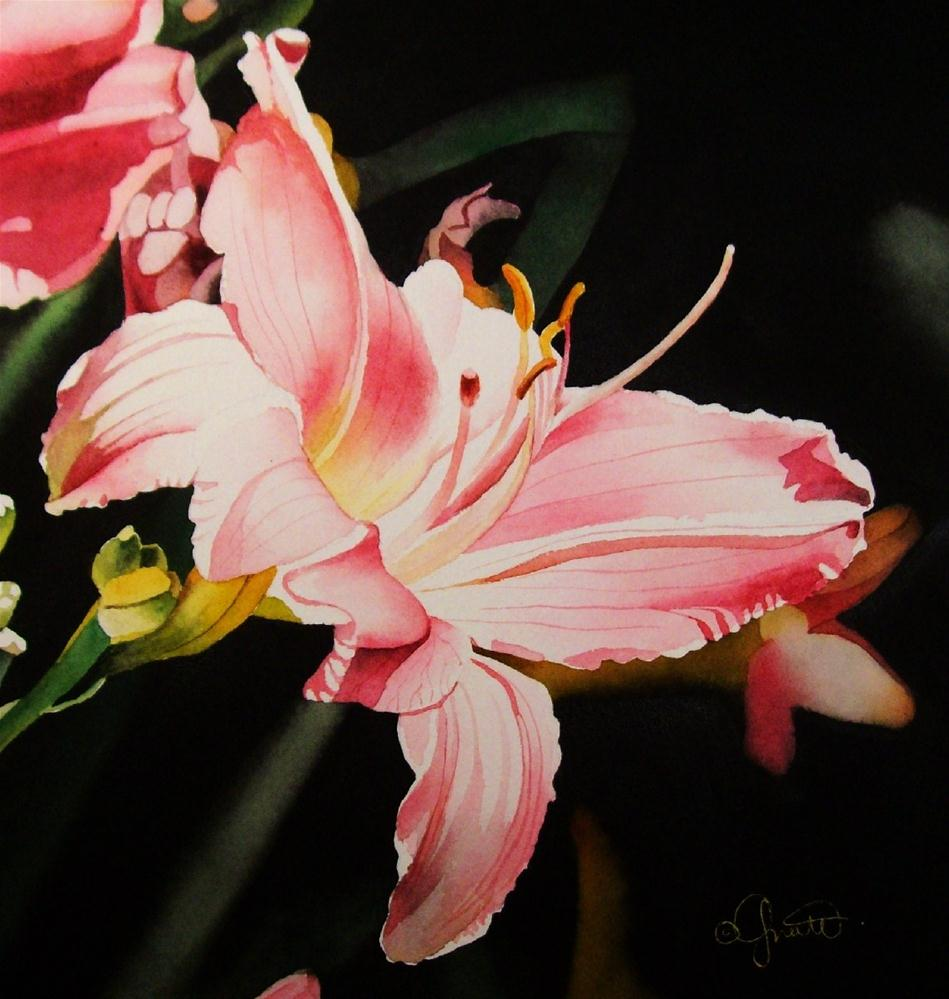"""Spring Flower Week Day 3: Daylily"" original fine art by Jacqueline Gnott, TWSA, WHS"