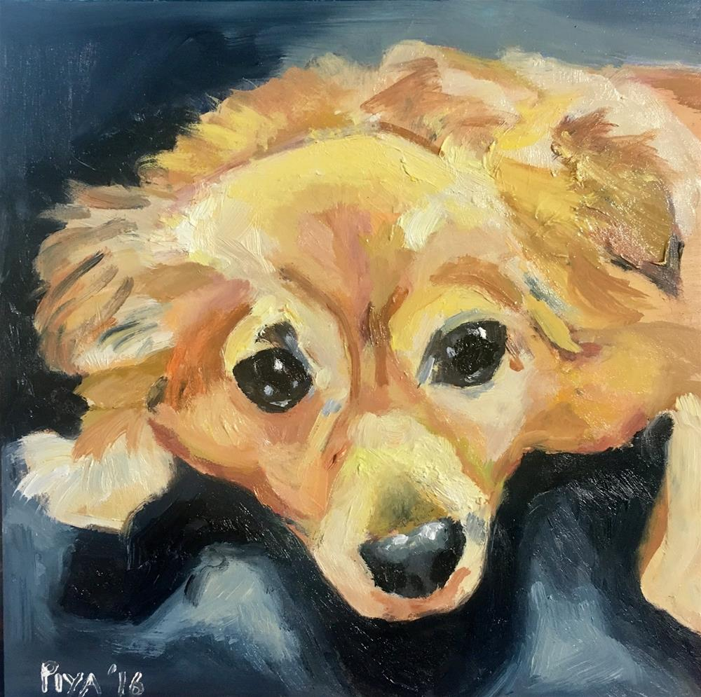 """Christmas Pup II"" original fine art by Piya Samant"