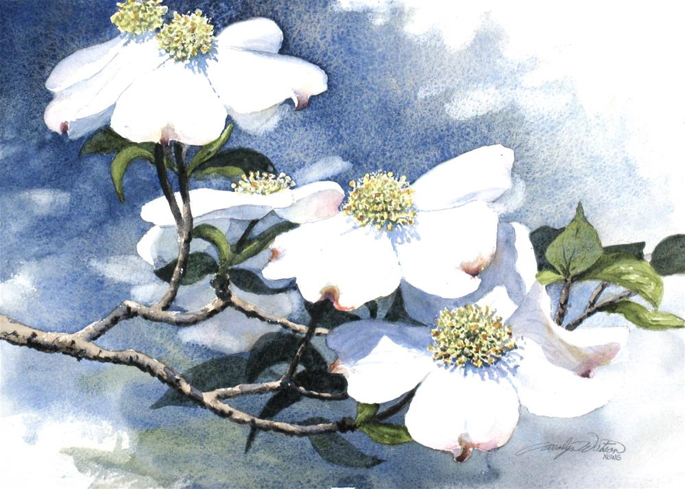 """Mississippi Dogwood"" original fine art by carolyn watson"