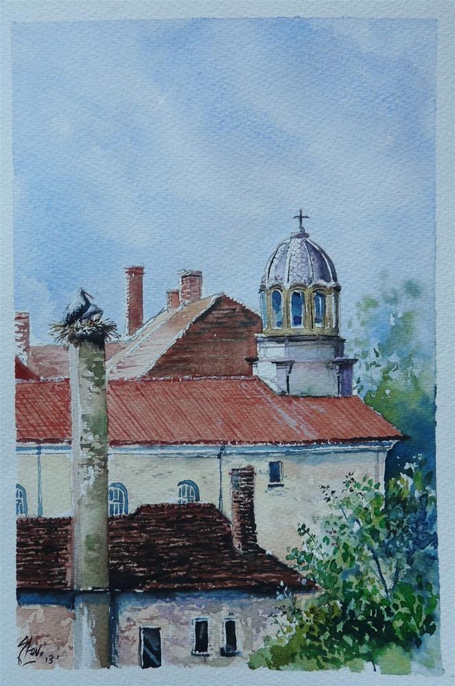 """The Last Residents of Cherkovo"" original fine art by Martin Stephenson"