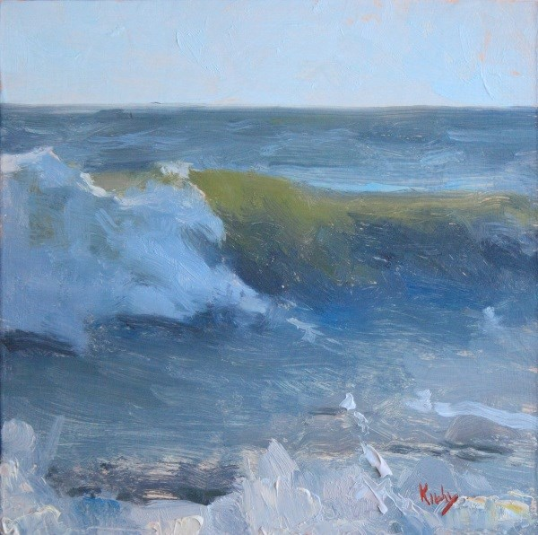 """A Crushing Wave"" original fine art by Randall Cogburn"