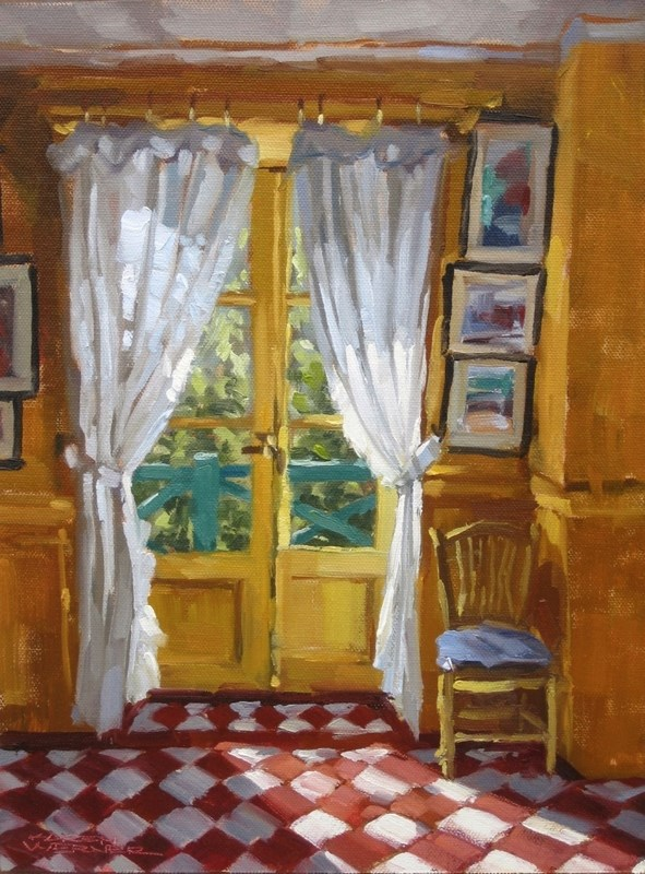 """In Monet's Kitchen"" original fine art by Karen Werner"