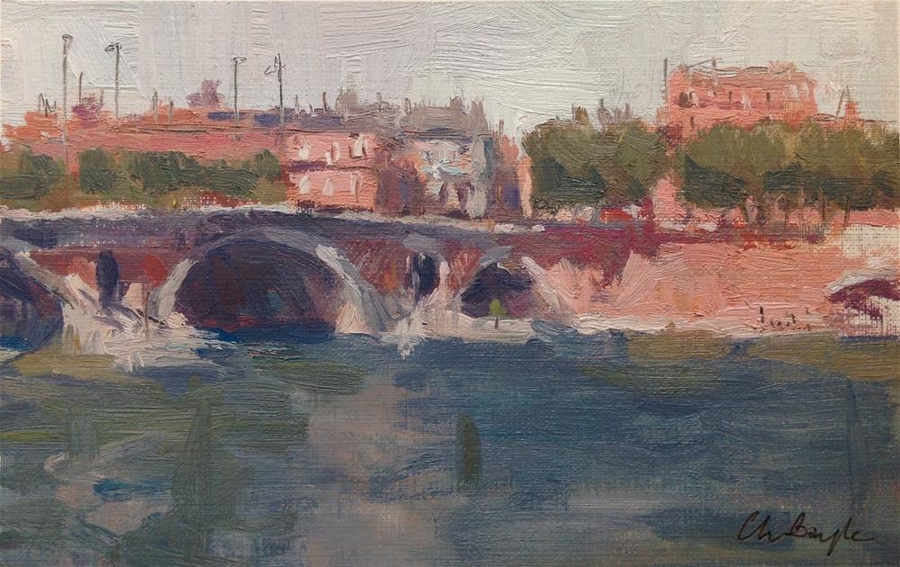 """Le pont neuf"" original fine art by Christine Bayle"