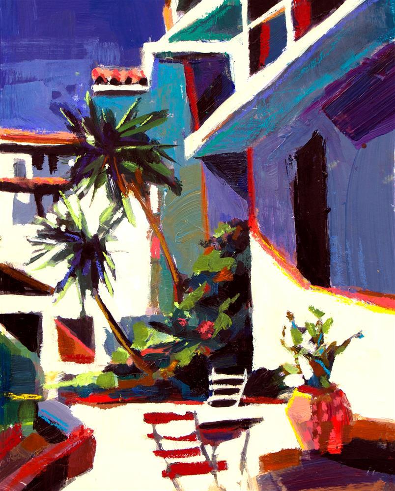 """Greek Courtyard II"" original fine art by Patti Mollica"