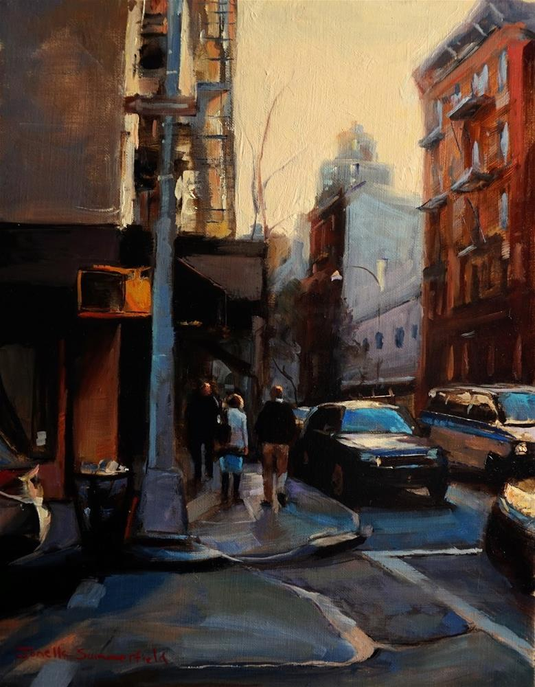 """Almost Dusk in Manhattan"" original fine art by Jonelle Summerfield"