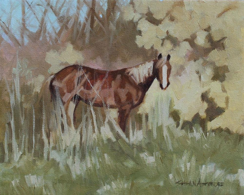 """Out of the Woods"" original fine art by Susan Ashmore"