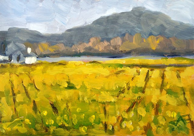 """Mustard"" original fine art by J. Farnsworth"