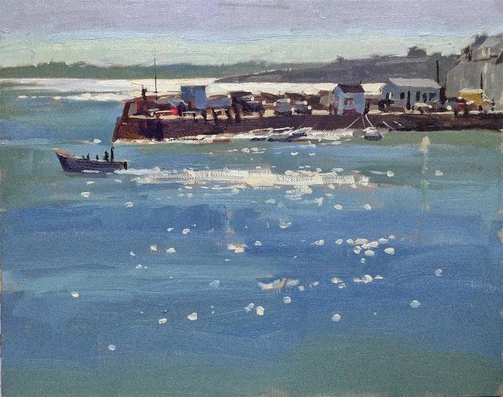"""Sparkling light at St Mawes"" original fine art by Haidee-Jo Summers"