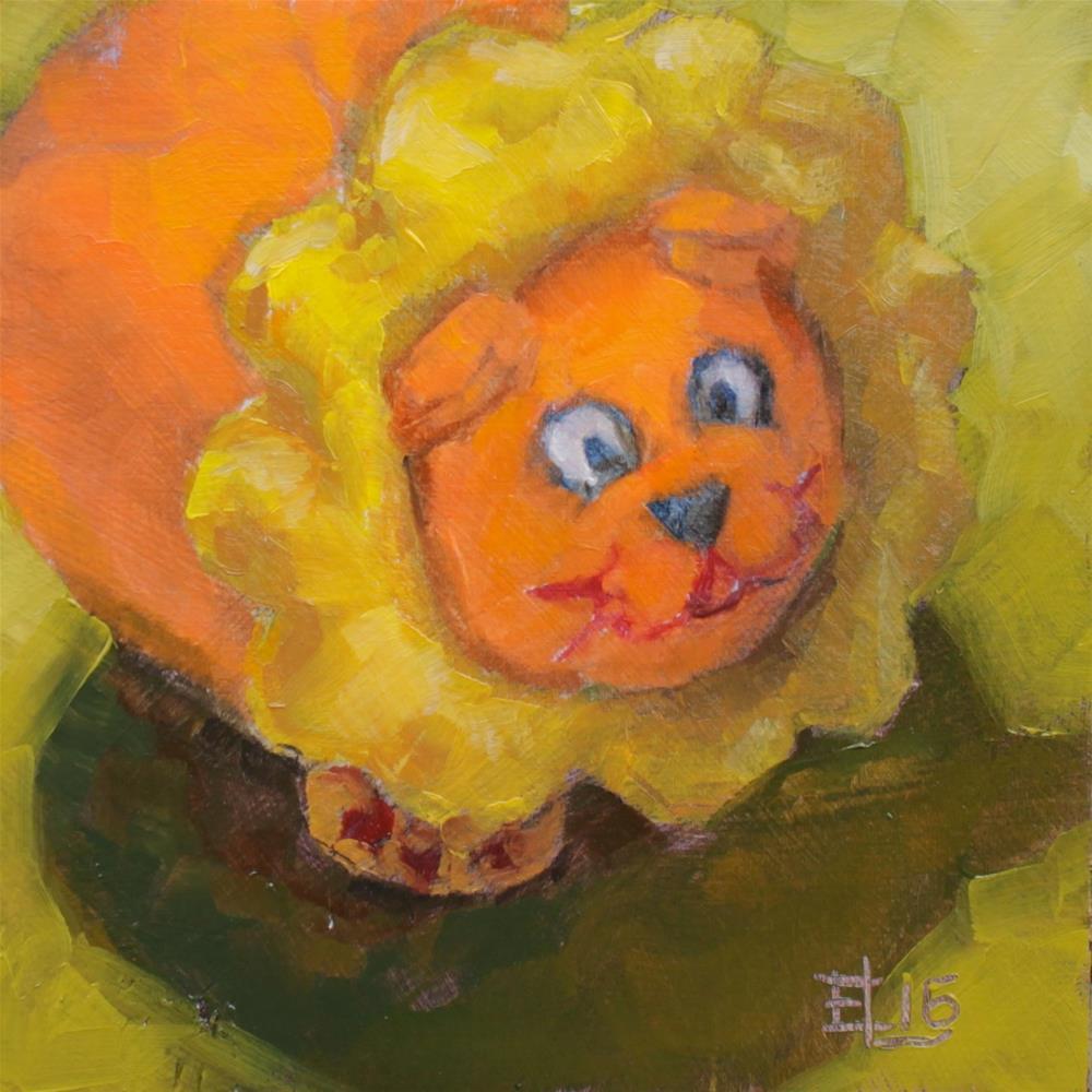 """Leo the Lion"" original fine art by Emilia Leinonen"