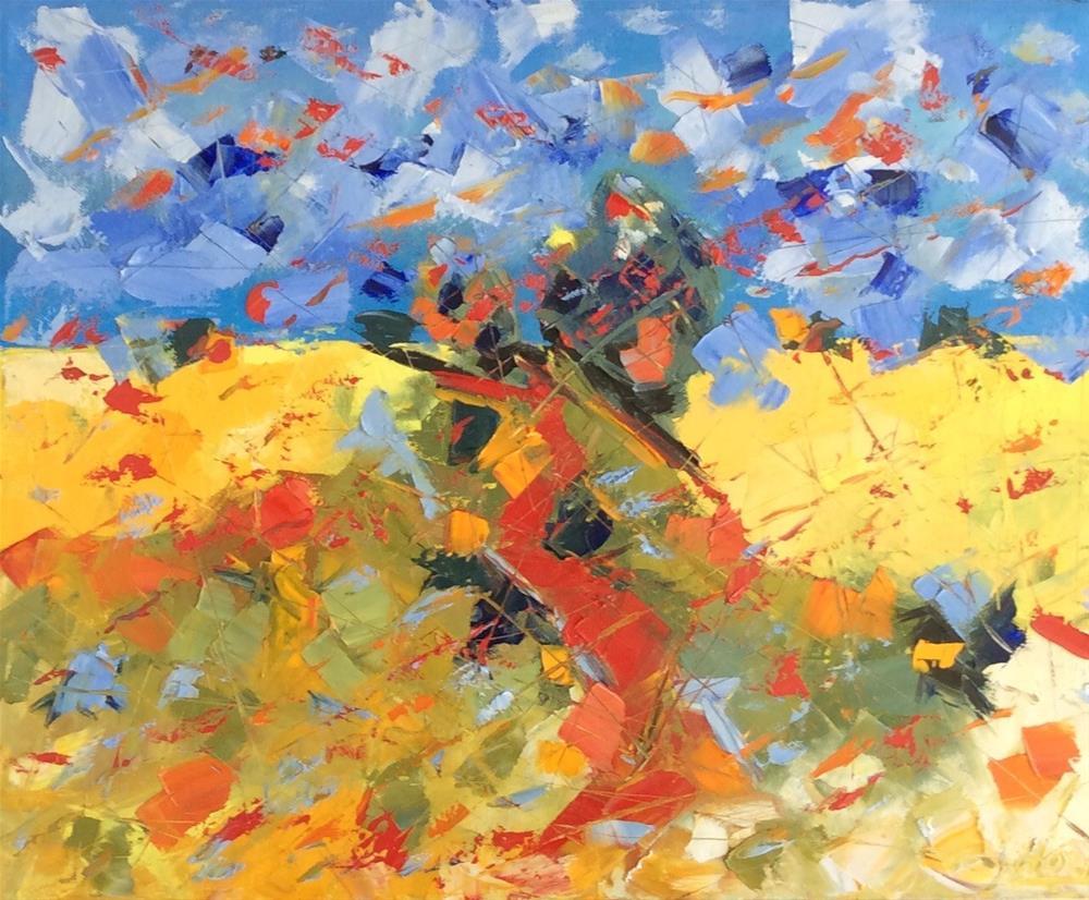 """""""Midday"""" original fine art by Hoda Nicholas"""