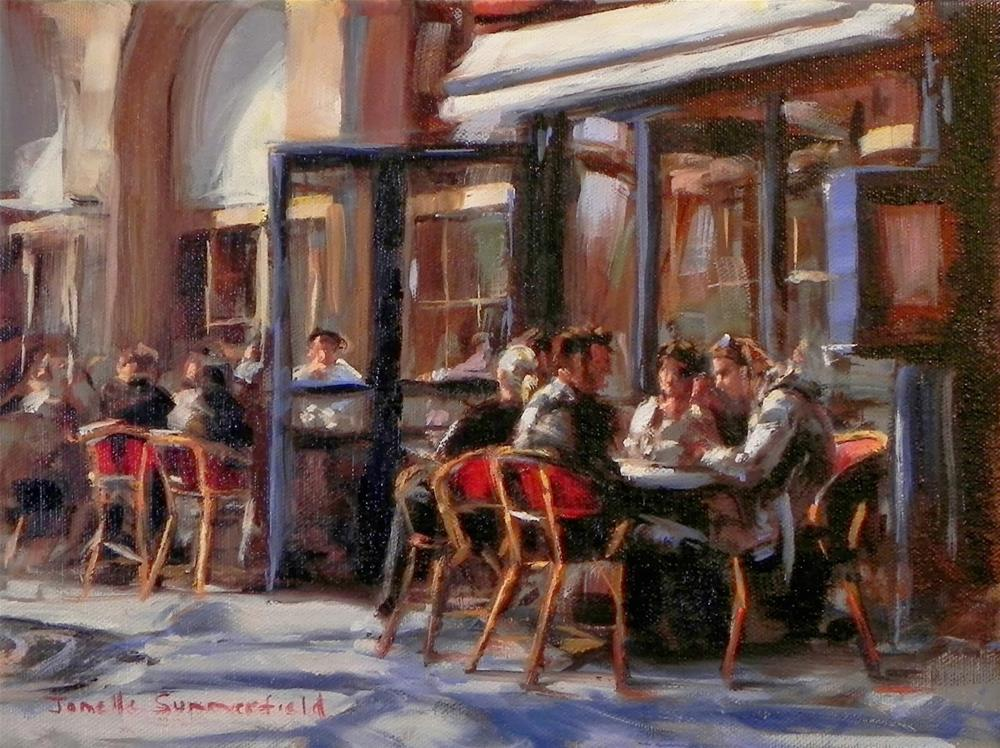 """Cafe in Paris II"" original fine art by Jonelle Summerfield"