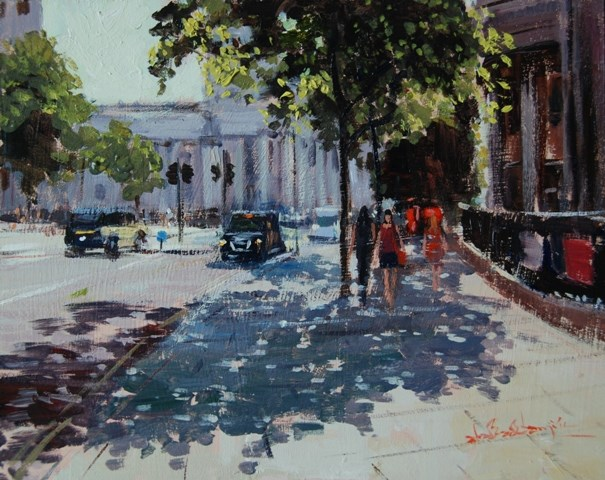 """SUMMER LIGHT ST MARTINS IN THE FIELDS"" original fine art by Adebanji Alade"