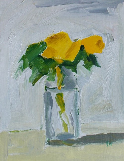 """Yellow Roses"" original fine art by Pamela Munger"