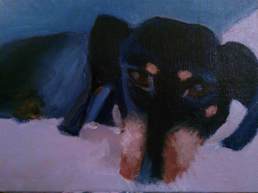 """molly"" original fine art by Gerri Obrecht"