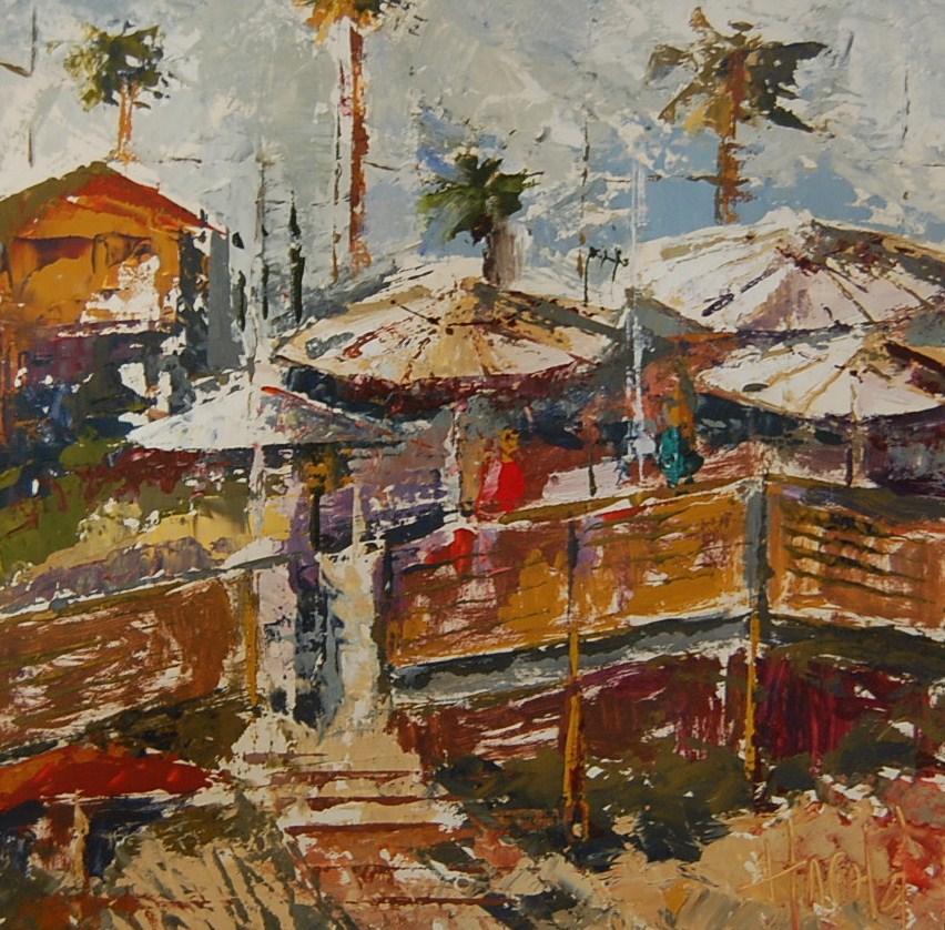 """""""Abstract Al Fresco"""" original fine art by Deborah Harold"""