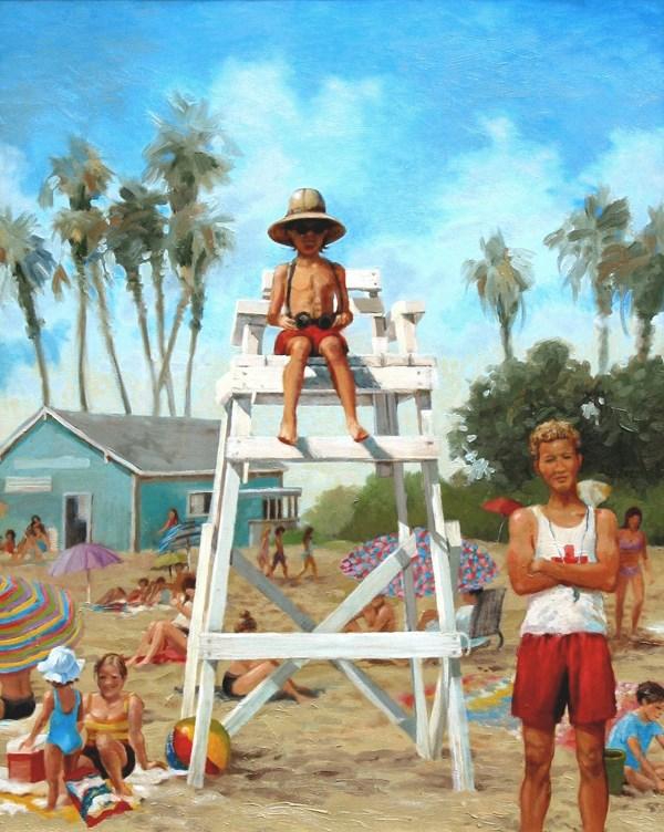 """Little Guard"" original fine art by Susan N Jarvis"