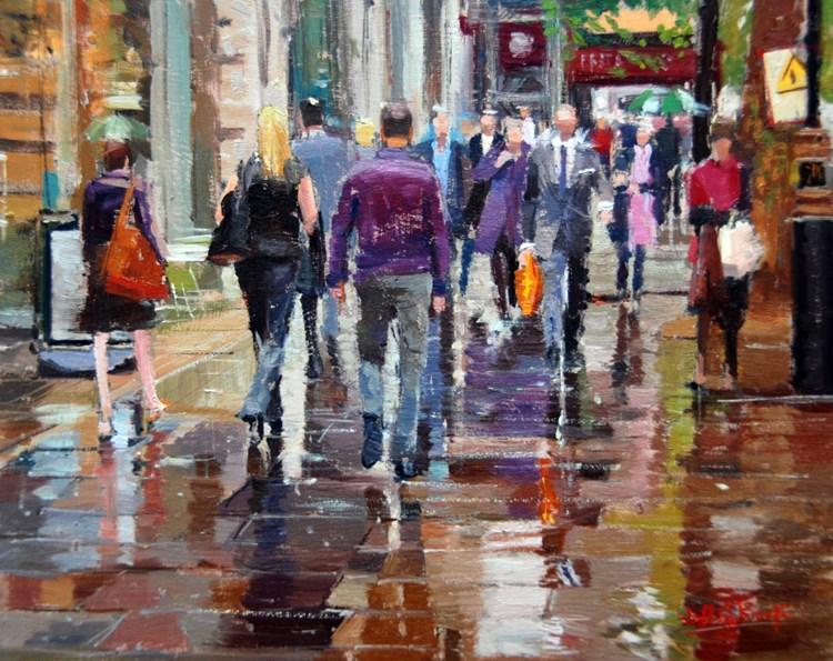 """Colour, Rain & Reflections."" original fine art by Adebanji Alade"