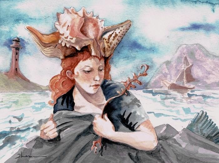 """Oceana"" original fine art by Theresa Taylor Bayer"
