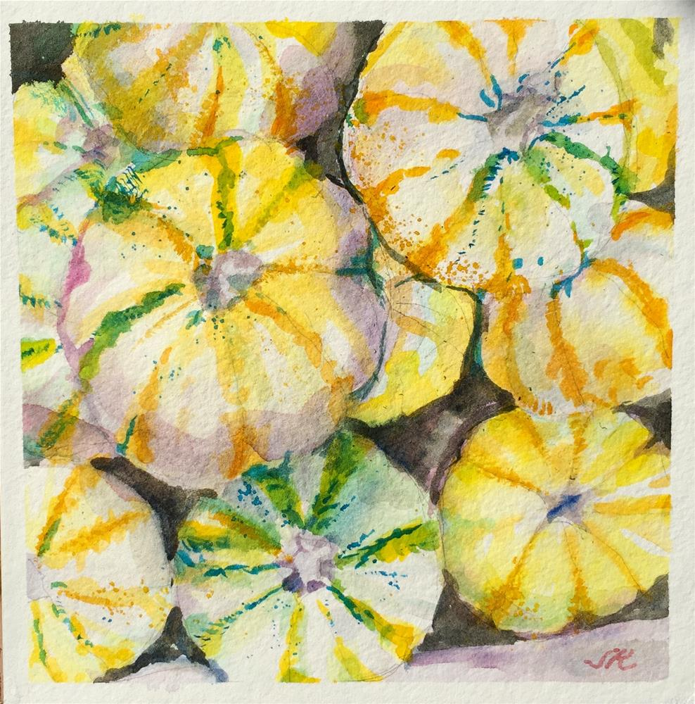 """Gourdgeous"" original fine art by jean krueger"
