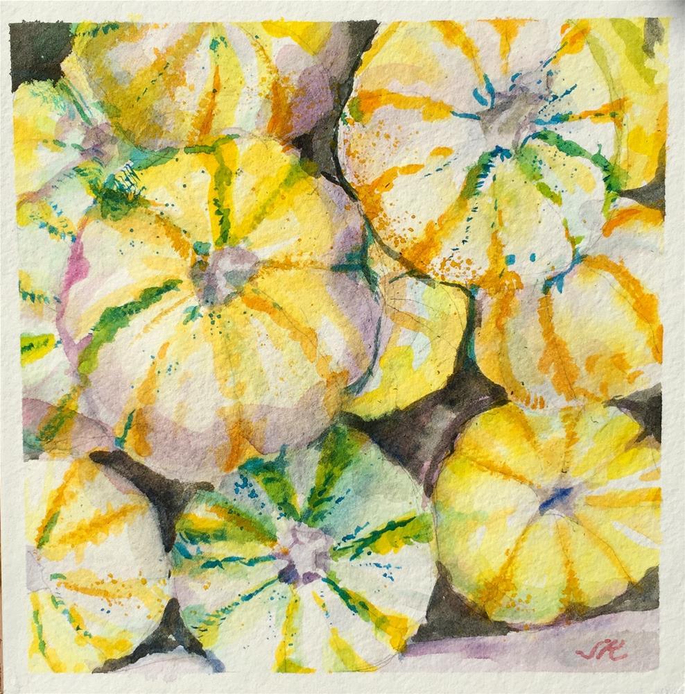 """Gourdgeous"" original fine art by Jean Krueger"