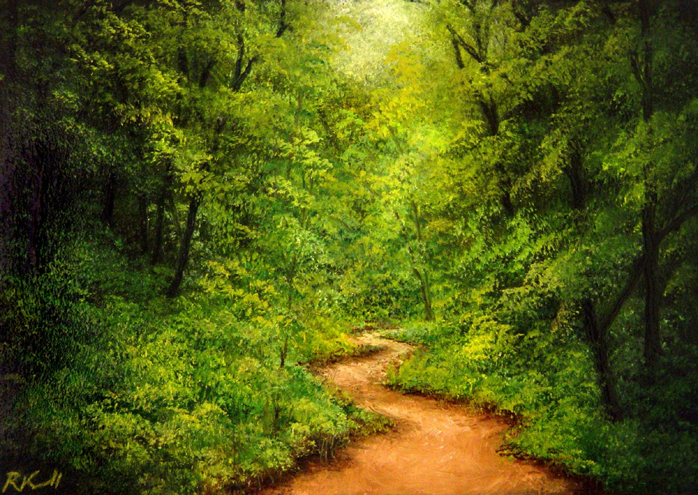 """Winding Trail"" original fine art by Bob Kimball"