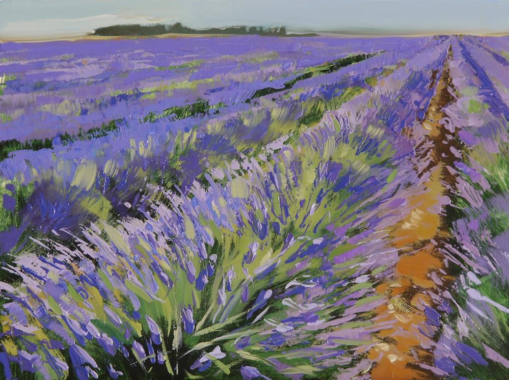 """lavender field"" original fine art by Beata Musial-Tomaszewska"