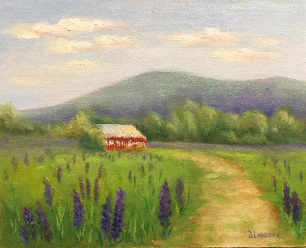 """Lupins "" original fine art by Dee Lessard"