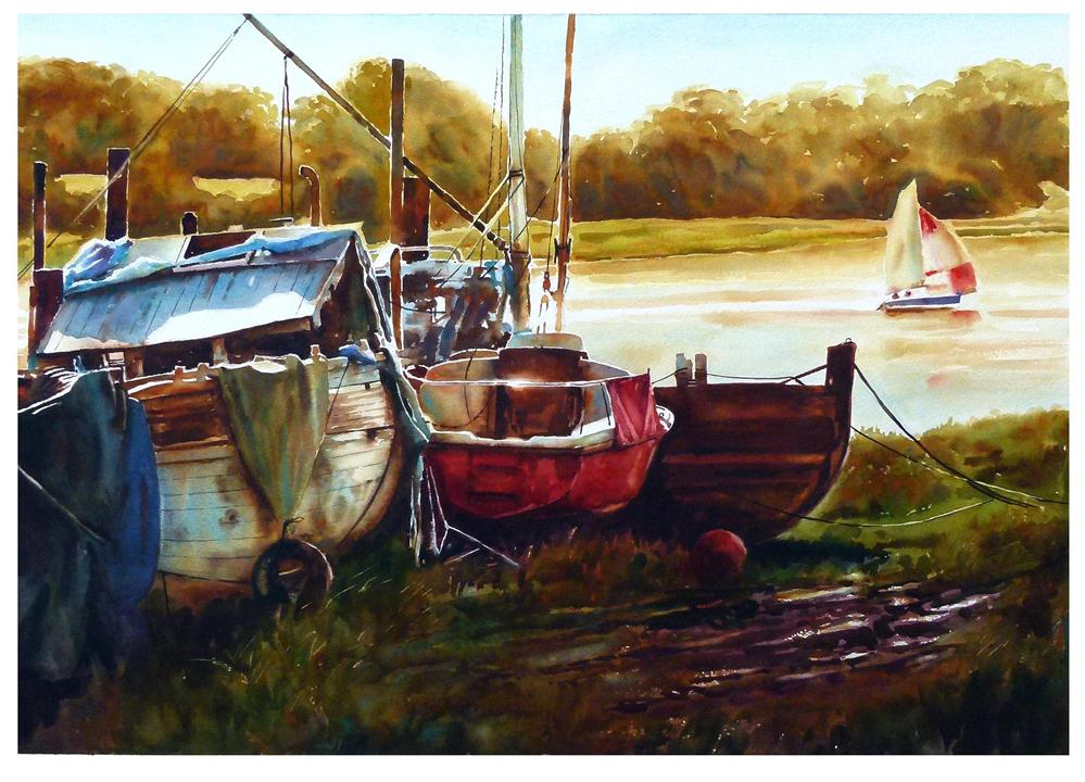 """Sailing, Skippool Creek"" original fine art by Graham Berry"