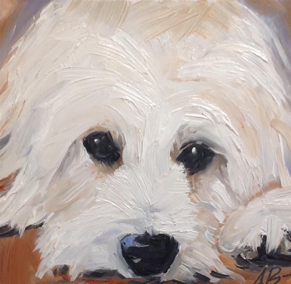 """Portrait of Satchmo"" original fine art by Annette Balesteri"