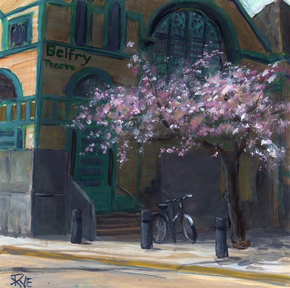 """Bike at the Belfry"" original fine art by Ruth Van Egmond"