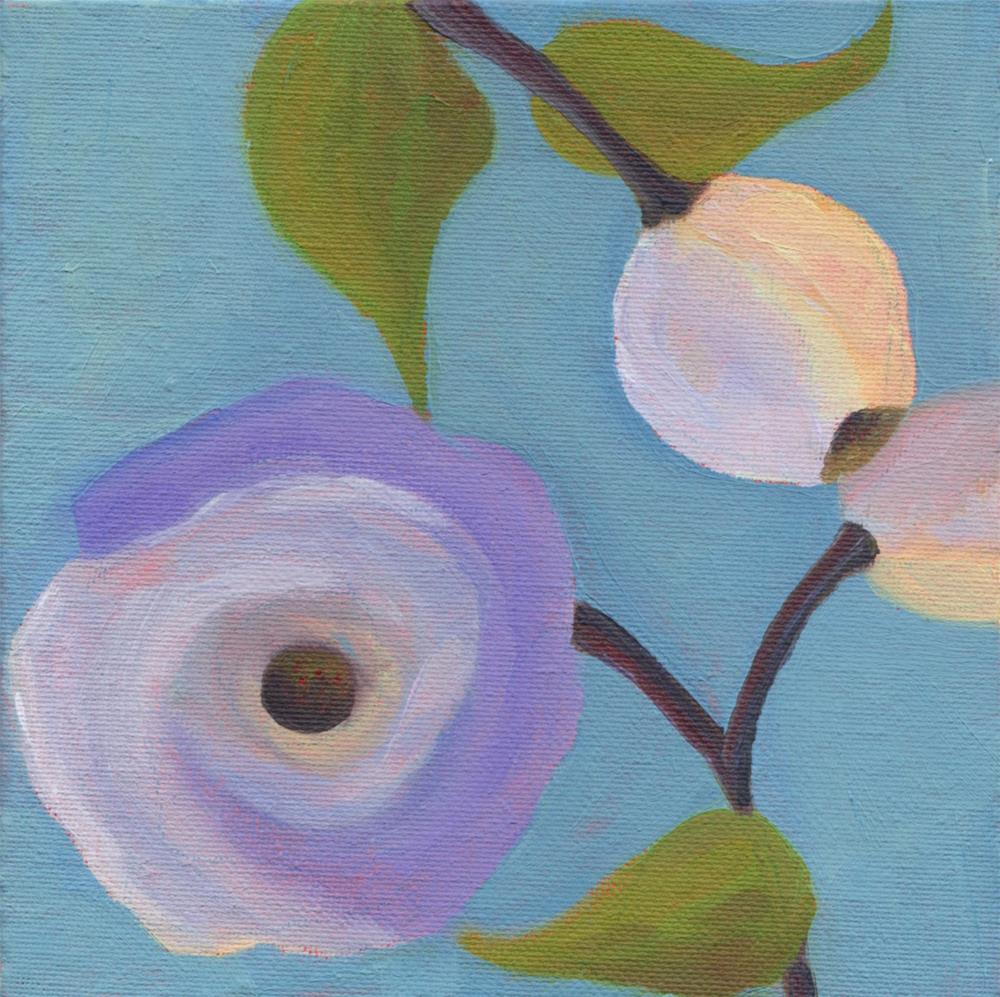 """Lavender Poppy"" original fine art by Susan Bertocci"