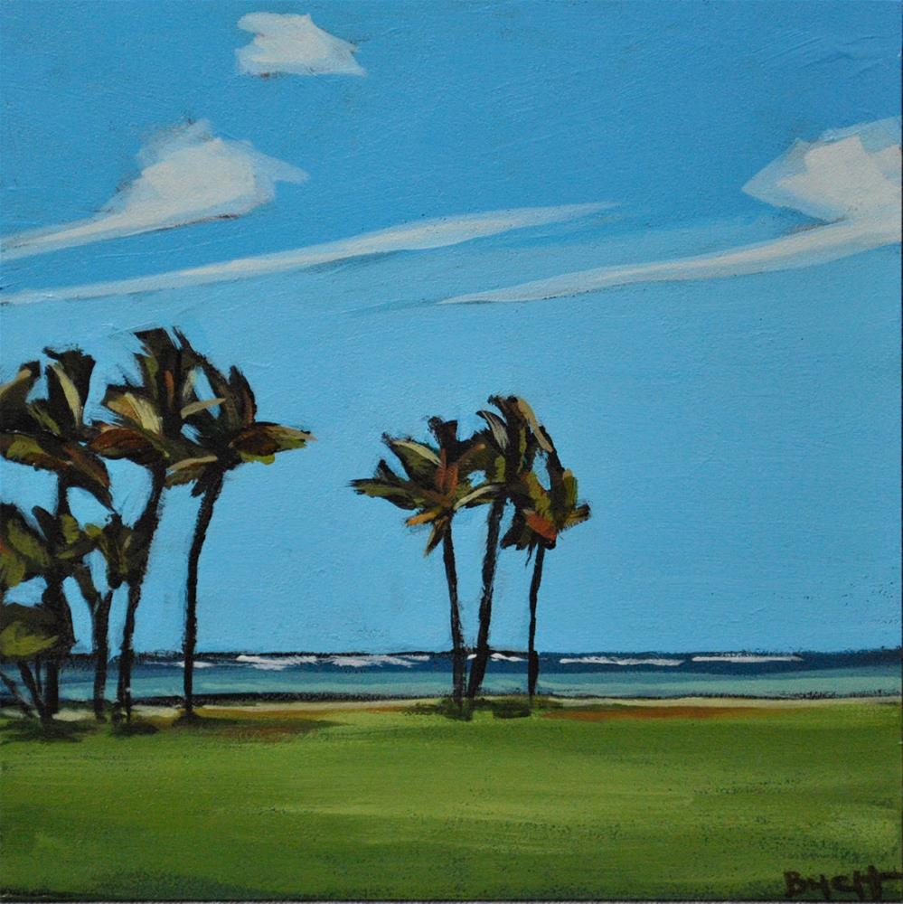 """Swaying Palms"" original fine art by Shari Buelt"