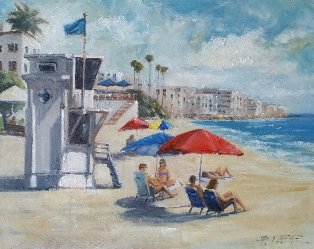 """Laguna afternoon"" original fine art by Peter Lee"