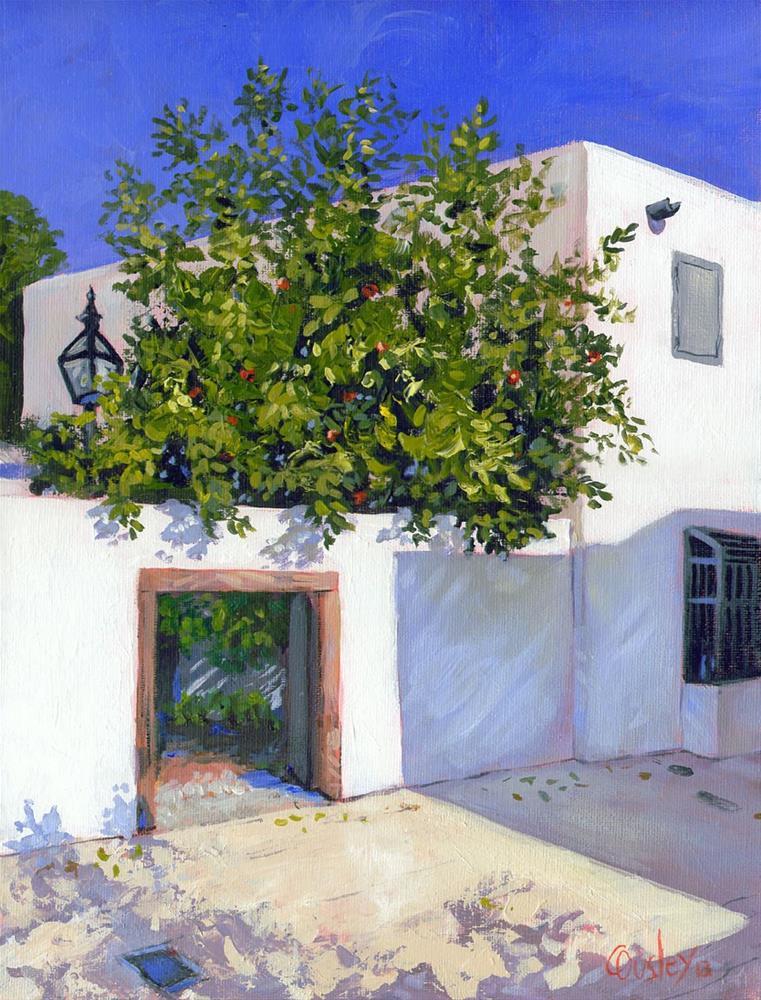 """The Orange Tree (St. Augustine, St. George Street)"" original fine art by Chris Ousley"