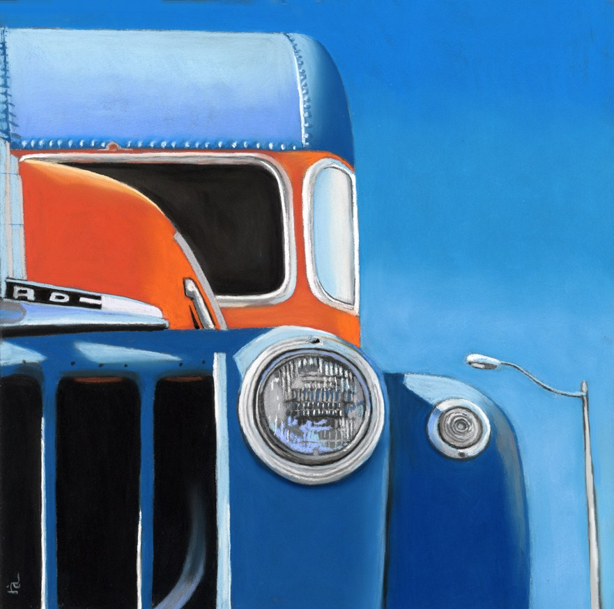 """50's Ford Truck"" original fine art by Ria Hills"