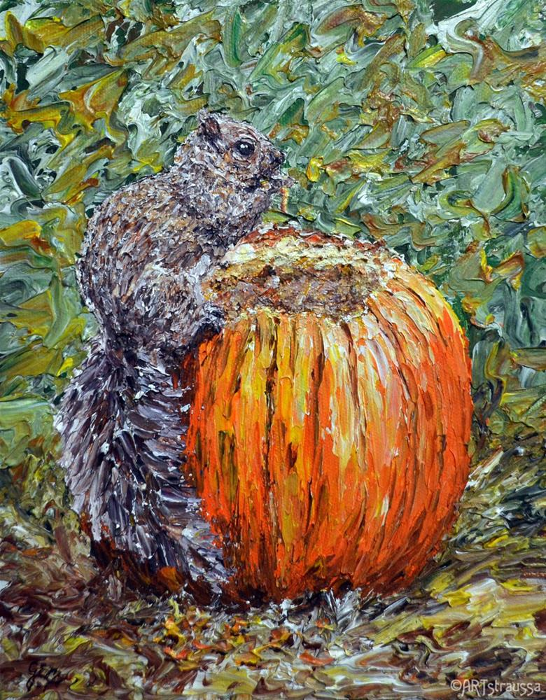 """Pumpkin Eater"" original fine art by Gloria Ester"