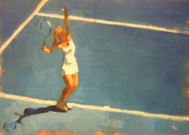 """AUSTRALIAN TENNIS OPEN - 3"" original fine art by Helen Cooper"