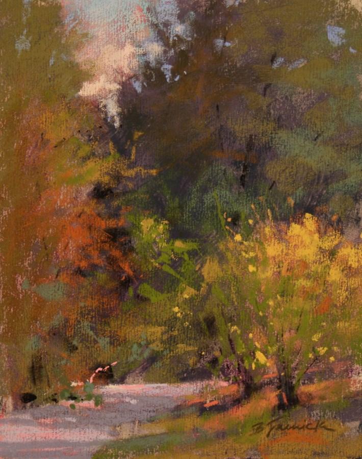 """Just Around the Bend"" original fine art by Barbara Jaenicke"