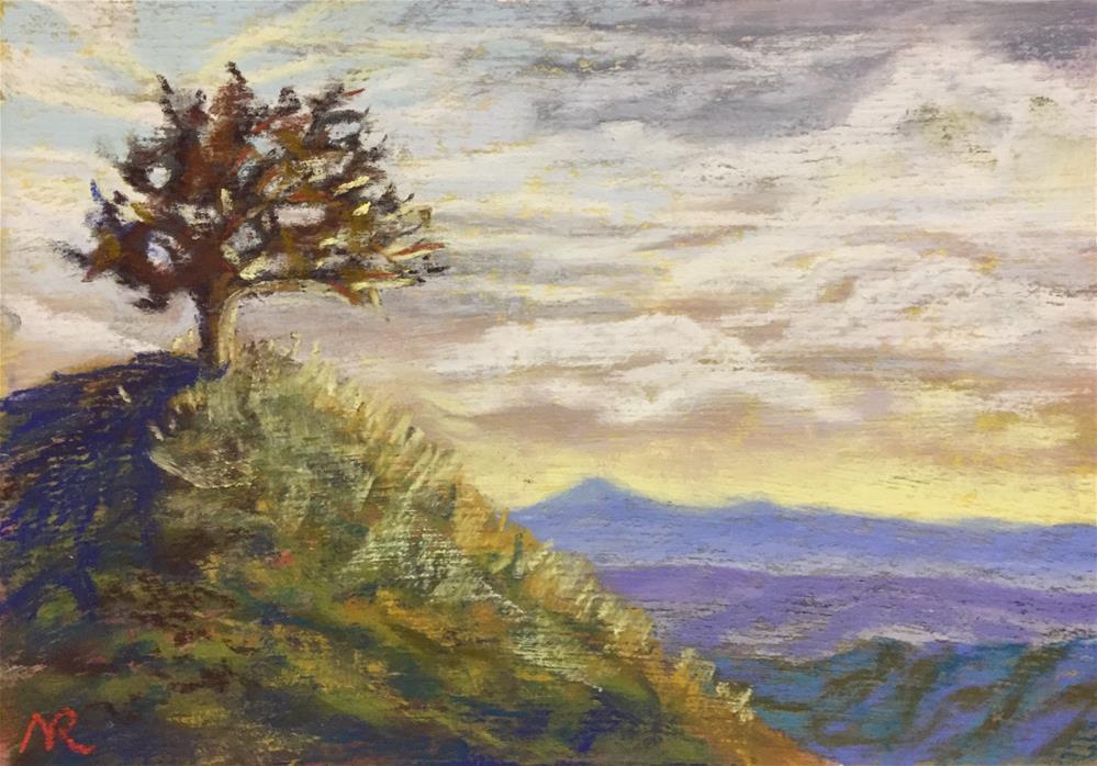 """""""End of a hike"""" original fine art by Natasha Ramras"""