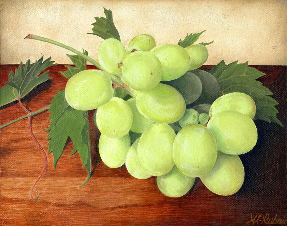 """Grapes a still life"" original fine art by Catherine Al-Rubaie"