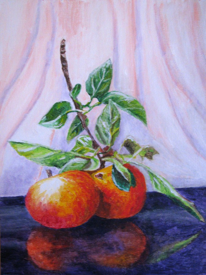 """Apples 2"" original fine art by Nan Johnson"