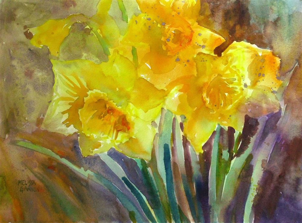"""Daffodil Joy"" original fine art by Melissa Gannon"