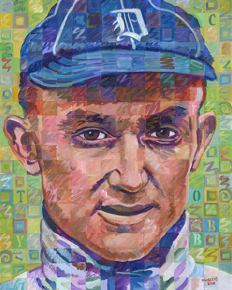 """Ty Cobb #2"" original fine art by Randal Huiskens"