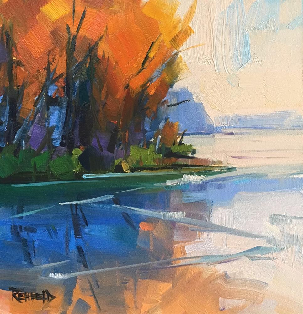 """Hazy River"" original fine art by Cathleen Rehfeld"