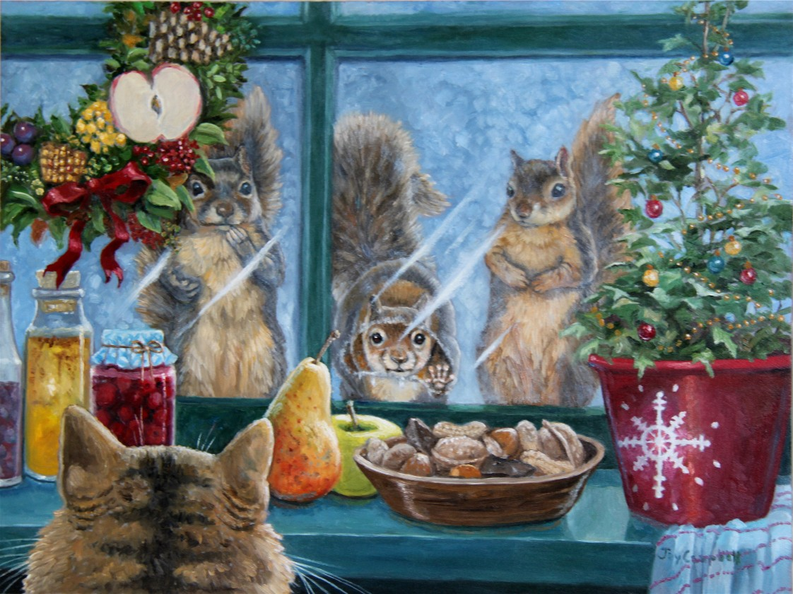 """Christmas Goodies"" original fine art by Joy Campbell"