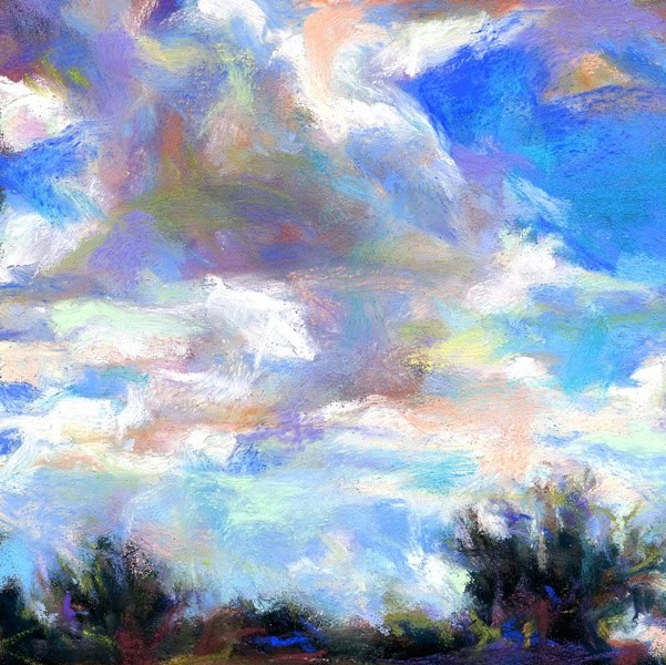 """As the cloud travels to a new home!"" original fine art by Susan Roden"