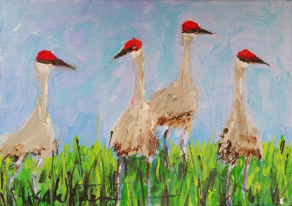 """58 -Walkin' Around"" original fine art by Lisa Whitener"