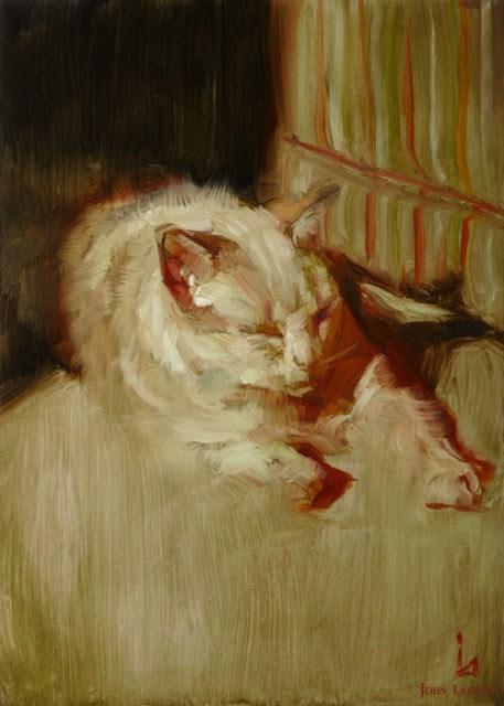 """Sunbath"" original fine art by John Larriva"