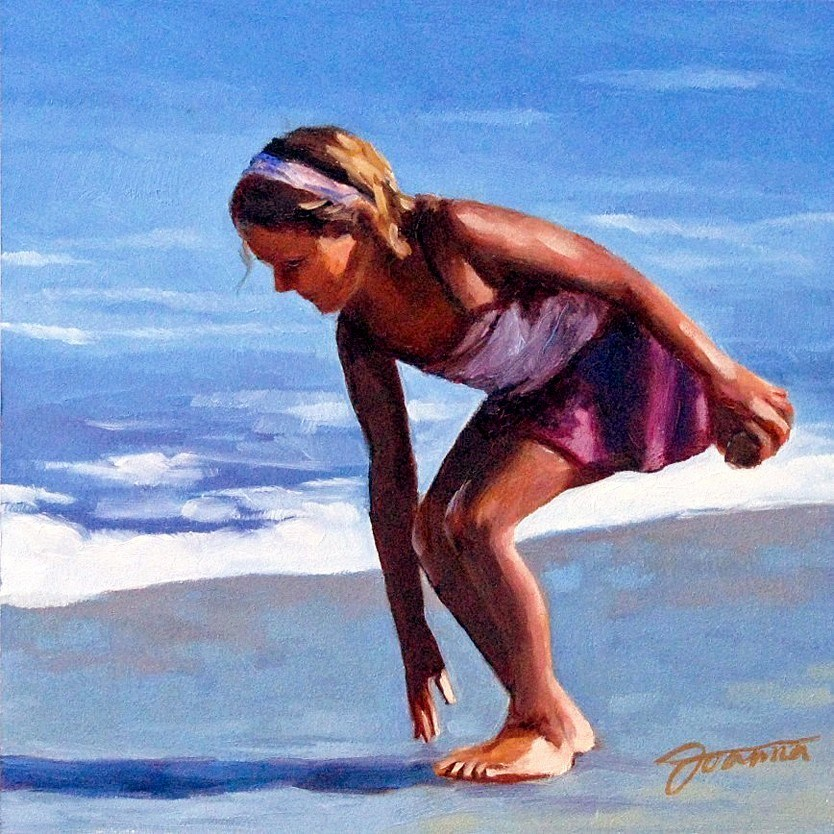 """Rock Collector"" original fine art by Joanna Bingham"